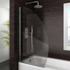 marina curved bath screen 800mm wide bath screens screens and bath