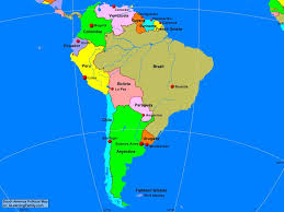 South America Map With Capitals by South America Political Map World Map