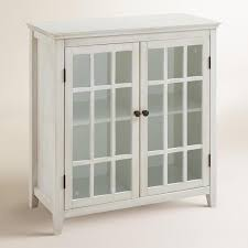 antique white storage cabinet antique white double door storage cabinet by world market door