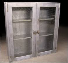 single industrial metal cabinet w sliding glass doors sliding