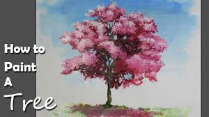 blossom trees how to paint a cherry blossom tree in acrylic youtube