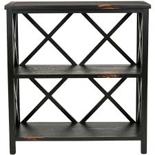 safavieh niko java open bookcase amh6501a the home depot