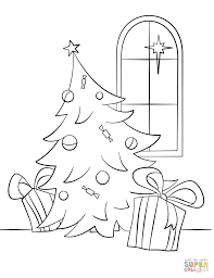 christmas scene coloring page free printable coloring pages