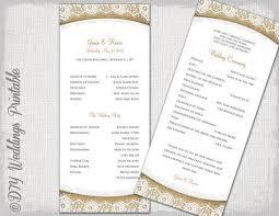 burlap wedding programs 37 best wedding program templates images on wedding