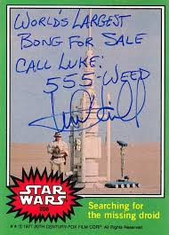wars cards hamill signed these real wars trading cards in