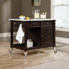 sauder mobile kitchen island cinnamon cherry home furniture