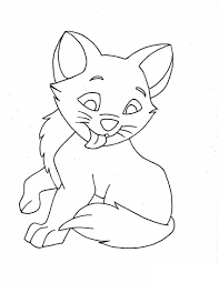 kitty coloring page 3876