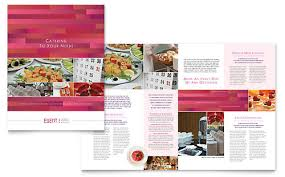 corporate event planner u0026 caterer brochure template design