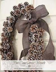 pine cone wreath pine cone snowy wreath 1 png