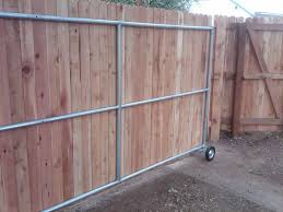 Gate For Backyard Fence Wood Fence Ideas With A Gate Steel Framed Roll Gate With Wood