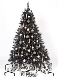black christmas tree black christmas trees happy holidays