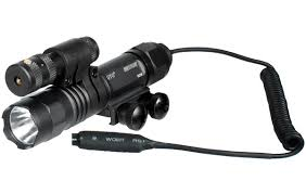 tactical light and laser led weapon flashlight w e adjustable red laser combo