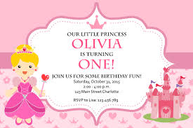 What Is Rsvp In Invitation Card Princess Birthday Invitation Card