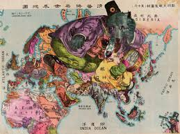 Imperialism Asia Map by Russian Revolution Maps