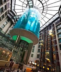 aquadom u0027s hotel aquarium in berlin has an elevator for guests