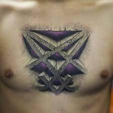 heartagram tattoo on chest best tattoo ideas gallery