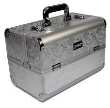 Makeup Box vanity makeup box silver leaf design eyelashes direct uk