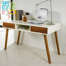 Small Wood Desk Korean Study Show Homes Modern Minimalist Wood Desk With Drawers
