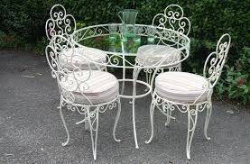 white iron patio furniture interior design