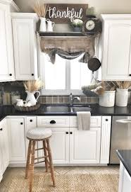 Decorating Ideas For Above Kitchen Cabinets Farmhouse Kitchen Decor Burlap Sack Curtain Ig Bless This Nest