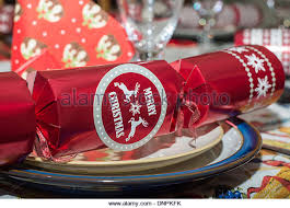 Christmas Cracker Table Decoration by The Christmas Cracker Crackers Stock Photos U0026 The Christmas