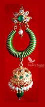 Christmas Gifts For Wife Ze63 Daphne Green Earrings With Jhumki Style Karwa Chauth Gift