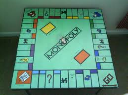 Monopoly Map You Could Paint Any Board Game On Your Coffee Table Hmmm