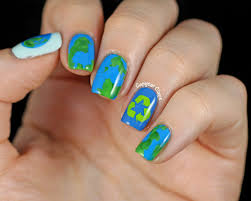 copycat claws earth day nail stamping