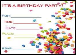 free printable birthday invitations online choice image