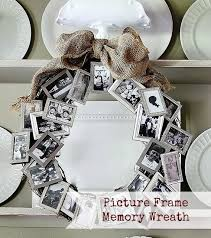 picture frame memory wreath homemade christmas gifts