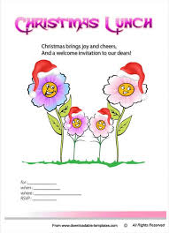 christmas lunch invitation free printable christmas invitation templates