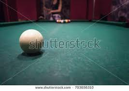 russian billiards white balls yellow cue stock photo 736050229