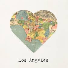 Los Angeles Map Poster by Los Angeles Map To My Heart Matte Poster Print 12 X 12