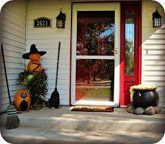 How To Make Halloween Decorations At Home by Halloween Porch And Diy Outdoor Halloween Decorations Pumpkins