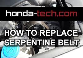 1999 honda accord alternator how to replace serpentine belt in honda accord