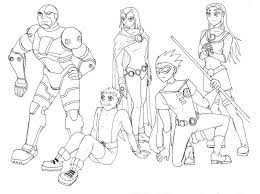 teen titans group sketch mystryl shada deviantart