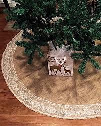 burlap christmas tree skirt rustic christmas tree skirts e bit me