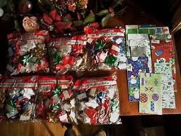 bags of christmas bows 168 christmas bows mix colors 6 bags new other stock 28 bows