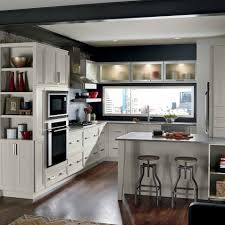 Ontrend Gray Cabinets Make This Kitchen Craft Asher Kitchen - Kitchen craft kitchen cabinets