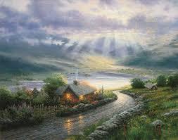 emerald isle cottage paintings kinkade gallery