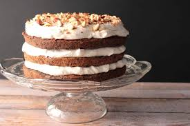 easy chocolate hazelnut cake with whipped cream