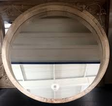 large modern rustic chunky natural round wall mirror new hall