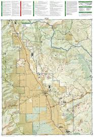 Colorado 14er Map by Buena Vista Collegiate Peaks National Geographic Trails
