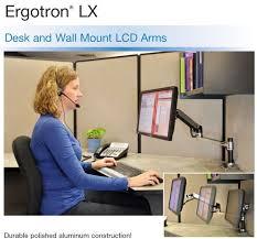 Lx Hd Sit Stand Desk Mount Lcd Arm Ergotron Lx Desk Mount 27 Lcd Arm Hostgarcia