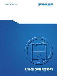 boge piston air compressors gas compressor piston