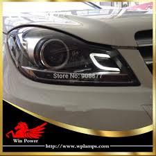 mercedes c class headlights for 2011 2014 ben z c class w204 xenon led headlight with bi xenon