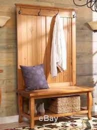 hall tree entryway coat rack stand furniture storage bench hold
