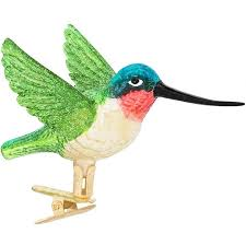 hummingbird glass clip on ornament bronner s