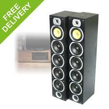 home theater tower speakers pair fenton passive floor standing tower speakers home theatre