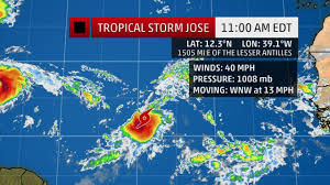 St Maarten Map Tropical Storm Jose Is On Its Way Right Behind Hurricane Irma U2013 St